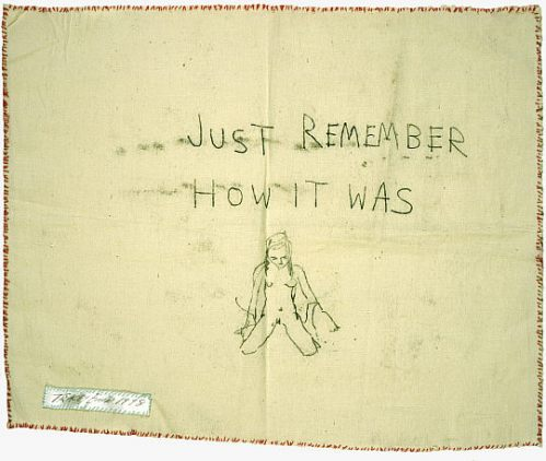 Tracey Emin: Just remember how it was