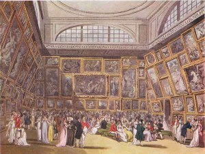The Summer Exhibition in 1800 (via)