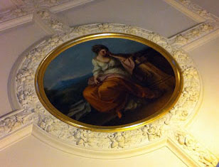 Angelika Kauffmann's paintings on the ceiling in the entrance of the RA are hardly noticed by visitors (via)