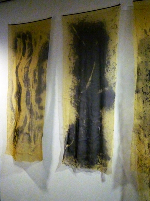 Redacted Revealed (detail) (2014) Penny Clayden. Silk organza.