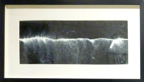 Night Waves (2013) Chris Day. Acrylic ink, sea water.
