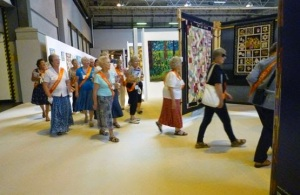 Taking up positions at Festival of Quilts, Birmingham, UK (via)